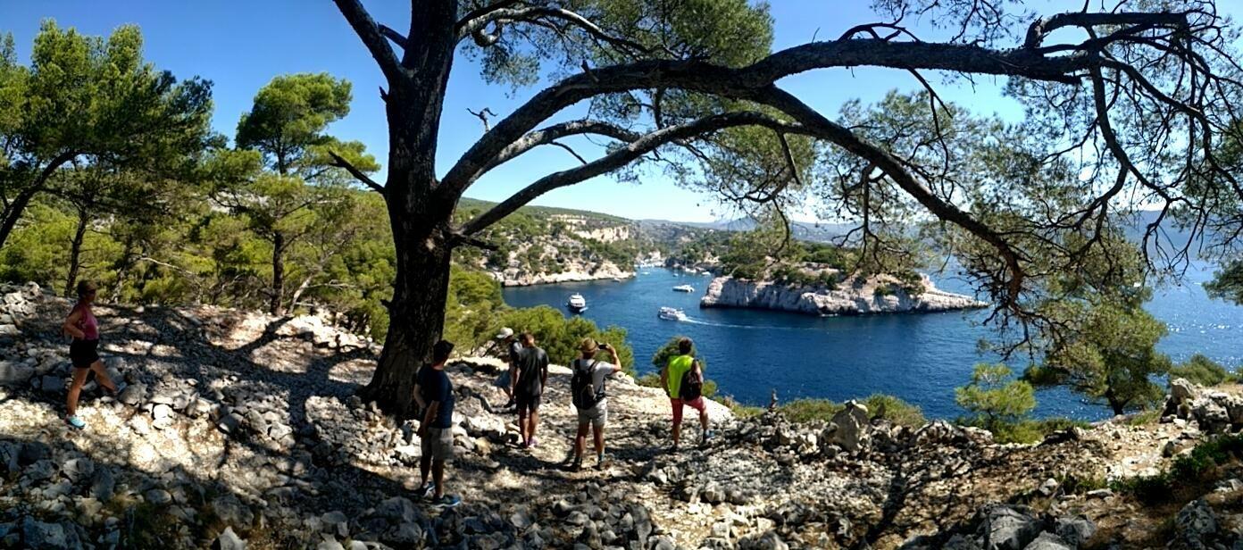 randonnée escalade calanques port miou, port pin, pointe cacau