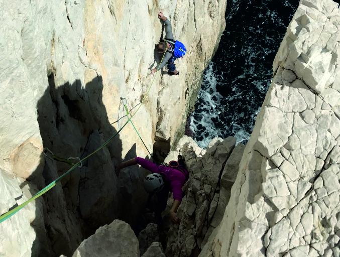 escalade grimpe randonnée calanques, eissadon sur les traces de gaston rebuffat