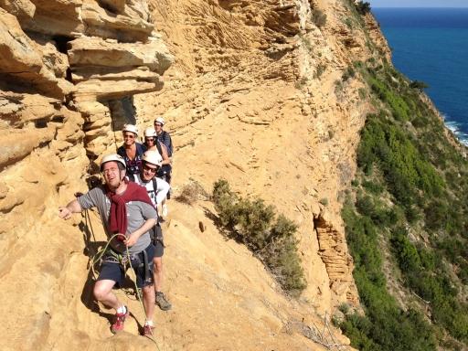 parcours aventure au cap canaille avec le bureau des guides cassis calanques