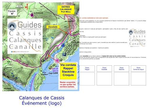 road book pour un événement et une posture active avec le bureau des guides cassis calanques